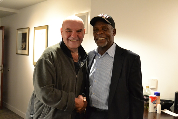 Jack Willis (President Lyndon Baines Johnson) and Actor and Political Activist Danny Glover