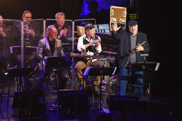 World premier jazz fusion trumpet player, Randy Brecker, performs with the ManDoki Soulmates at the Beacon Theatre in NYC (Jan. 29, 2018)