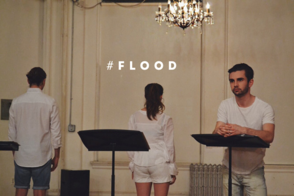 Connor Delves (Mike) in the FLOOD reading Photo