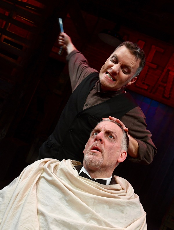 Noel Anthony* as Sweeney Todd and Christopher Vettel* as Judge Turpin