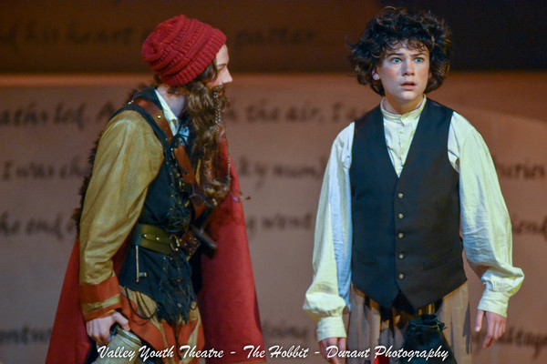 Justin Vaught as Thorin with Matthew Syms as Bilbo Baggins