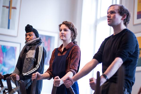 Photo Flash: Inside Rehearsal With Cressida Bonas in THE DOG BENEATH THE SKIN at Jermyn Street Theatre
