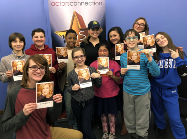 Broadway Star and SpongeBob Squarepants the Musical Original Cast Member Gaelen Gilliland signs autographs for Actors Connection's Kids and Teens following their musical masterclass.