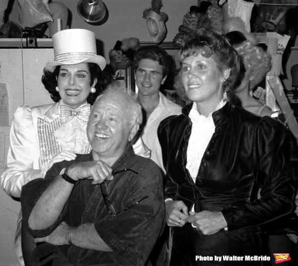Ann Miller and Mickey Rooney with his wife Jan Chamberlain backstage after a Performa Photo