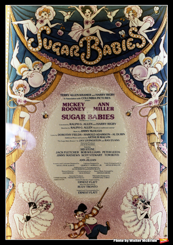 Theatre Marquee for Ann Miller & Mickey Rooney starring in Sugar Babies opening on Br Photo