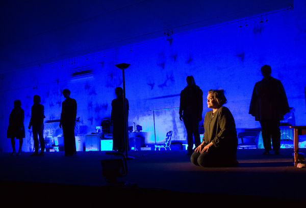 Ana Reeder and the cast of LCT3/Lincoln Center Theater's production of queens.  Photo