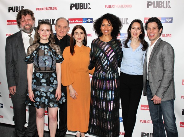 Oskar Eustis, Gillian Jacobs, Zach Grenier, Aya Cash, Eisa Davis, Sara Burgess and Th Photo