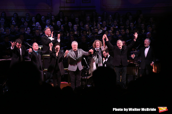Kevin Stites with Jason Robert Brown, Stephen Flaherty, Lynn Ahrens, Alan Menken, Luc Photo