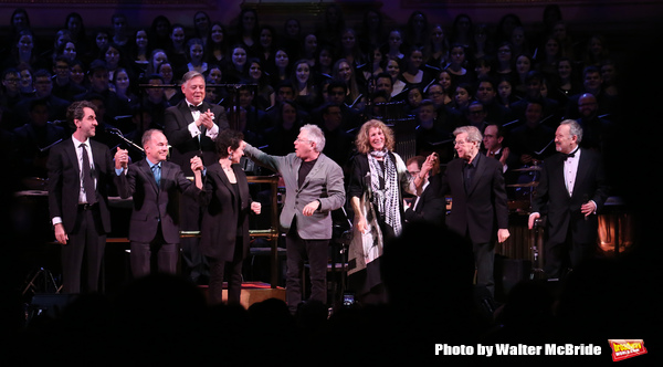 Kevin Stites with Jason Robert Brown, Stephen Flaherty, Lynn Ahrens, Alan Menken, Lucy Simon, Maury Yeston and Allan Corduner