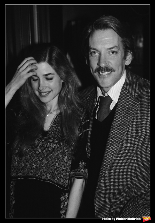Donald Sutherland and Blanche Baker pictured together backstage after their Opening Night Performance in 'LOLITA' at the Brooks Atkinson Theatre in New York City on March 19, 1981.