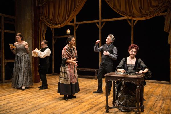 Madeline Wise (Doña Clara), Steven Rattazzi (Don Vicente), Sumaya Bouhbal (Pepita) Photo