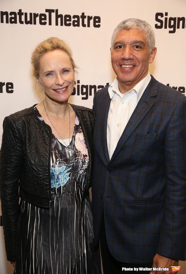 Laila Robins and Peter Francis
