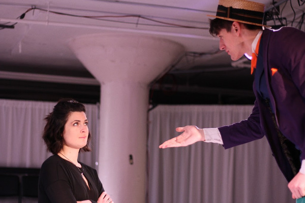 Allison Crews as Olivia and Ben Church as Feste