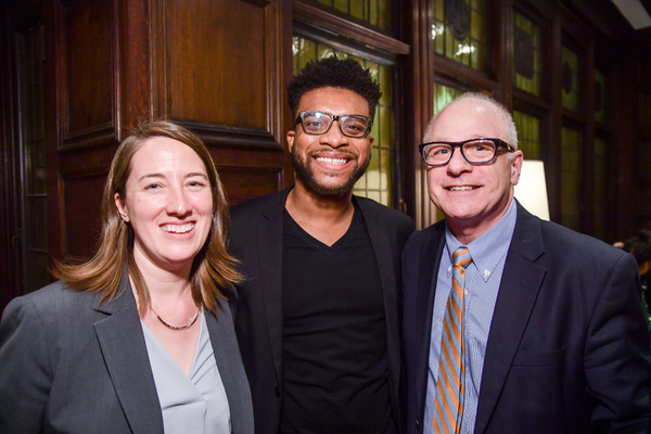 Jill A. Anderson - Managing Director of Syracuse Stage, Keenan Scott II and Michael S. Tick, Dean of Syracuse Visual Arts