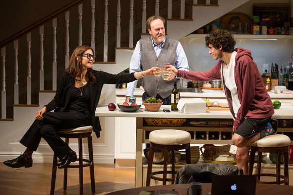 Jessica Hecht, Andrew Garman, and Ben Edelman