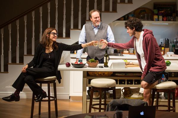 Jessica Hecht, Andrew Garman, and Ben Edelman Photo