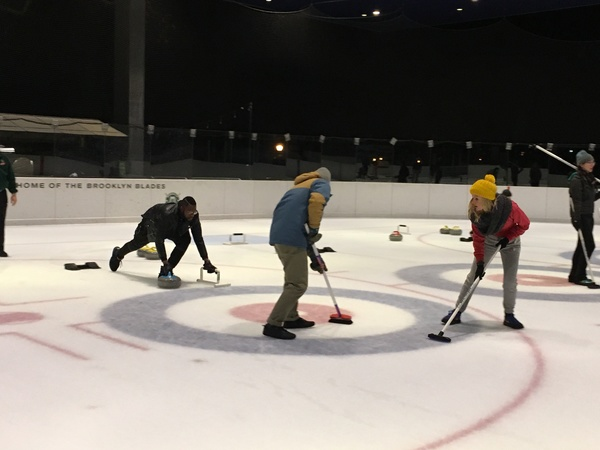 Photo Flash: The Cast of THE PLAY THAT GOES WRONG Finds Immense Success In Olympic Curling!