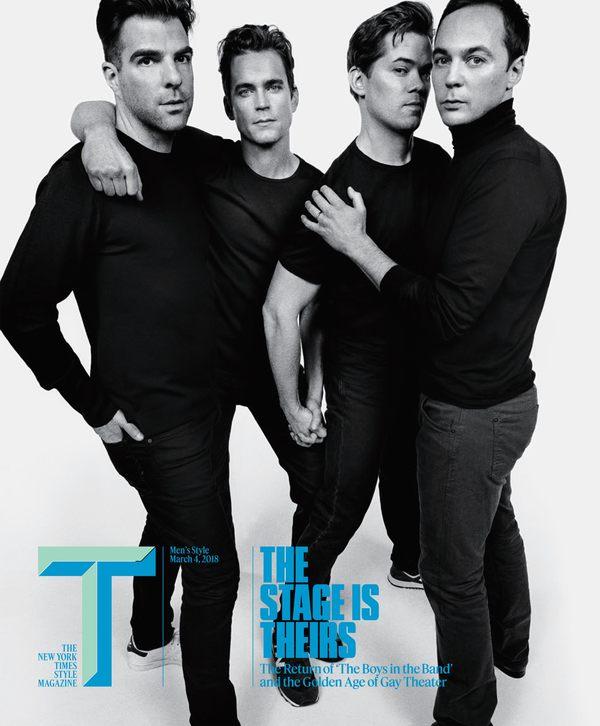 Zachary Quinto, Matt Bomer, Andrew Rannells, Jim Parsons Photo