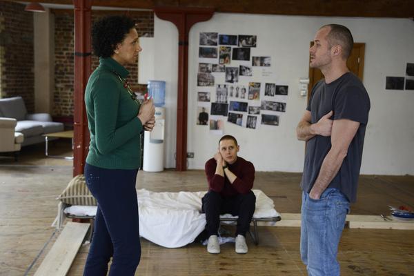 Grace Cookey-Gam (Warden), Samuel Barnett (Molina), Declan Bennett (Valentin) Photo