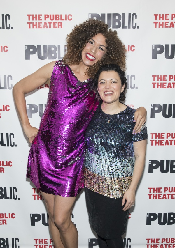Jomama Jones and Director of Joe's Pub Shanta Thake at the opening night of BL Photo