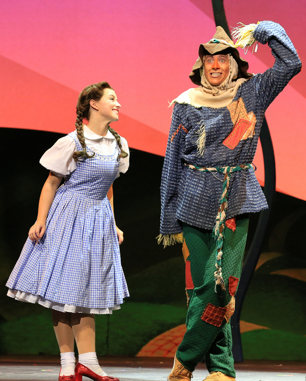 Dorothy (Kalie Kaimann) and Scarecrow (Chris Duir)