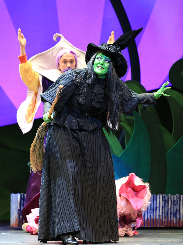 Emily Perzan as the Wicked Witch in Munchkinland Photo