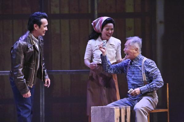 Eymard Cabling, Elena Wang, and George Takei