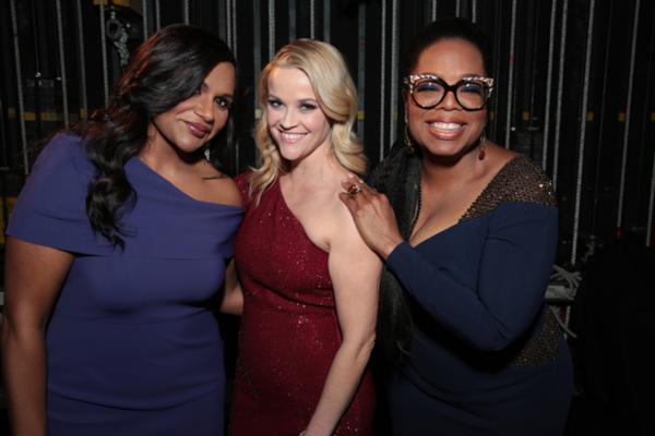 Mindy Kaling, Reese Witherspoon, Oprah Winfrey Photo