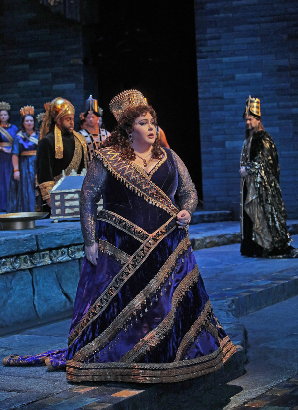"Angela Meade in the title role of Rossini's ""Semiramide."""