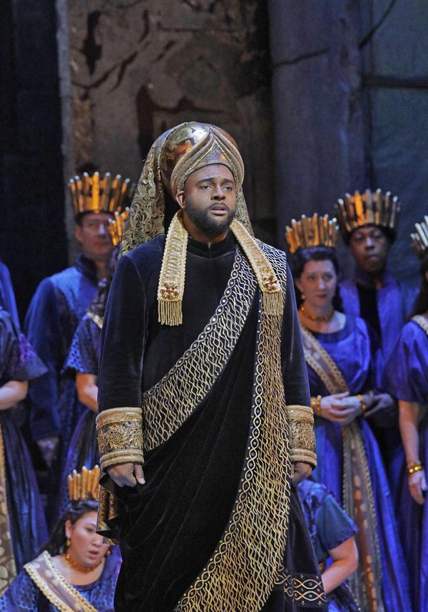 "Ryan Speedo Green as Oroe in Rossini's ""Semiramide."""
