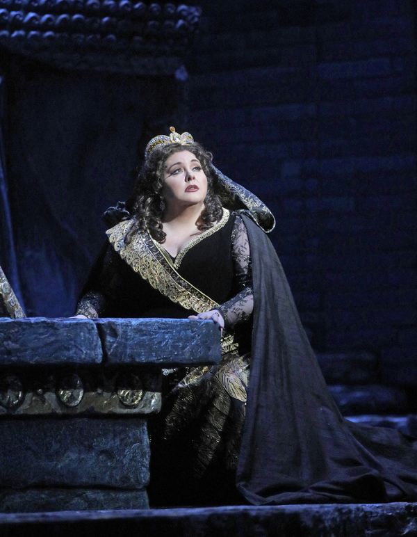"Angela Meade in the title role of Rossini's ""Semiramide.""  Photo"