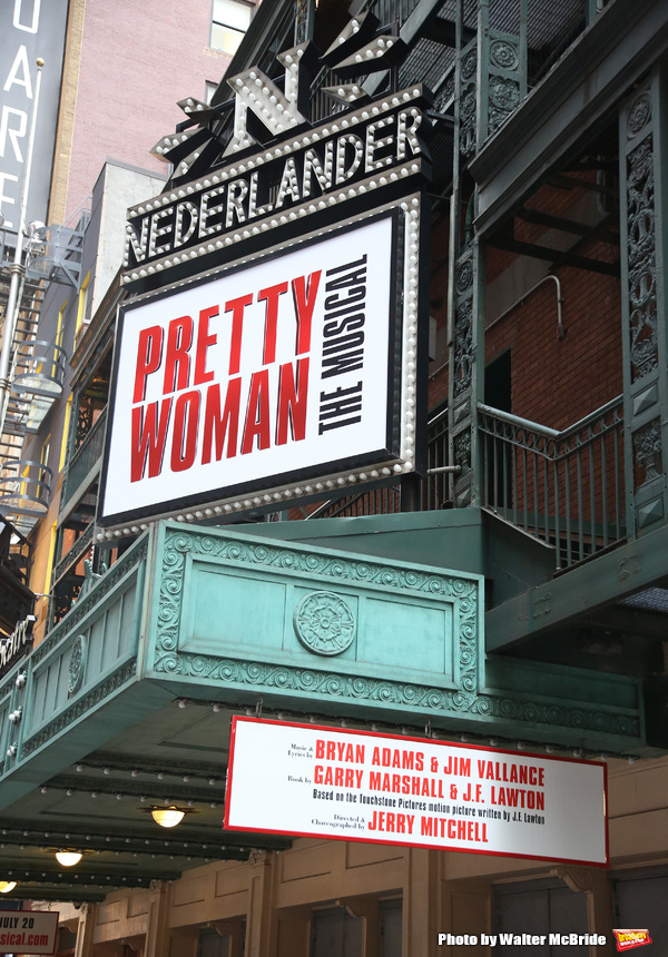 "Theatre Marquee unveiling for ""Pretty Woman: The Musical"" starring Samantha Barks, St Photo"