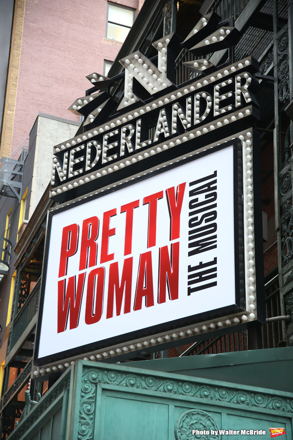 """Theatre Marquee unveiling for """"Pretty Woman: The Musical"""" starring Samantha Barks, St Photo"""