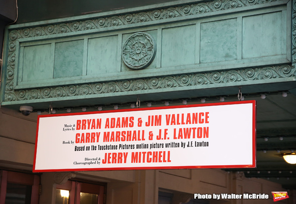 "Theatre Marquee unveiling for ""Pretty Woman: The Musical"" starring Samantha Barks, Steve Kazee, Orfeh, Eric Anderson, Jason Danieley and Kingsley Leggs under the direction of Jerry Mitchell with an original score by Bryan Adams and Jim Vallance on Februar"