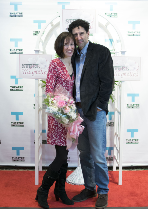 (left to right) Director Linda Fortunato with husband and actor Sean Fortunato at the opening night of STEEL MAGNOLIAS at Theatre at the Center in Munster.