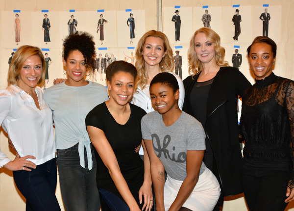 The Female Ensemble (left to right):  Erica Mansfield, Keely Beirne, Diana Vaden. Lara Seibert Young, Christine Shepard, Angie Schworer, Sherisse Springer