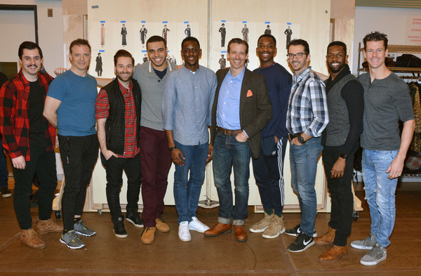 The Male Ensemble (left to right):  Tyler Huckstep, Drew McVety, Michael Fatica, Tyler Roberts, Darius Barnes, Matt Loehr, Britton Smith, Kevin Worley, Ramone Owens, Luke Hawkins