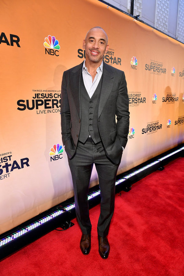 "JESUS CHRIST SUPERSTAR LIVE IN CONCERT -- ""Jesus Christ Superstar Live in Concert"" Press Junket -- Pictured: Harvey Mason Jr., Music Producer in New York on Tuesday, February 27, 2018 -- (Photo by: Dia Dipasupil/NBC)"