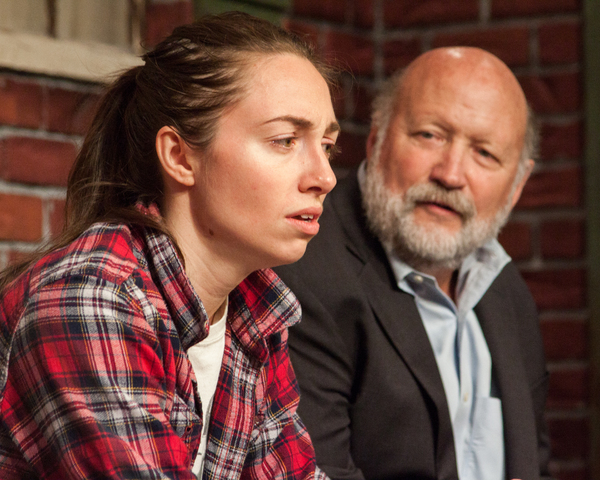 Megan Raitano as Catherine and Allan Whitehead as Robert in Proof at Theater On The Edge