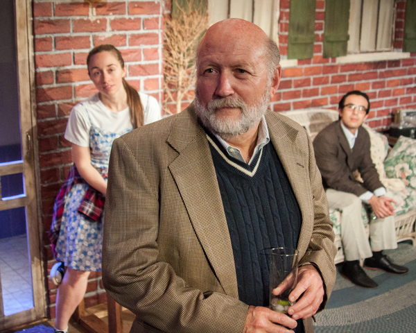 Allan Whitehead as Robert, with Megan Raitano as Catherine and Barry Wright as Hal in Proof at Theater On The Edge