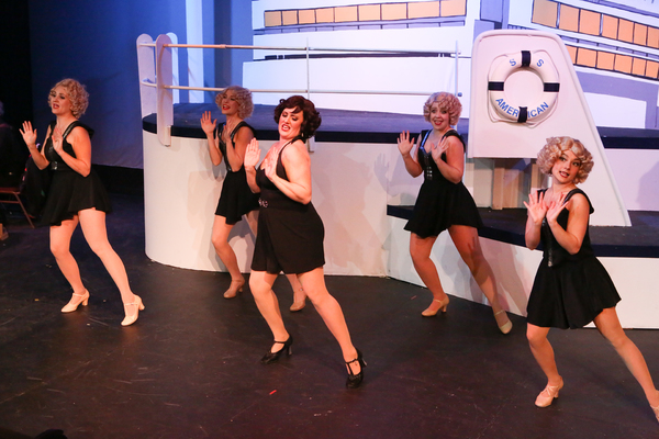 Sarah Gene Dowling as Bonnie (center), with Reno's Angels -- Michelle Sauer, Larissa White, Sara Rae Womack, and Alyssa Wolf