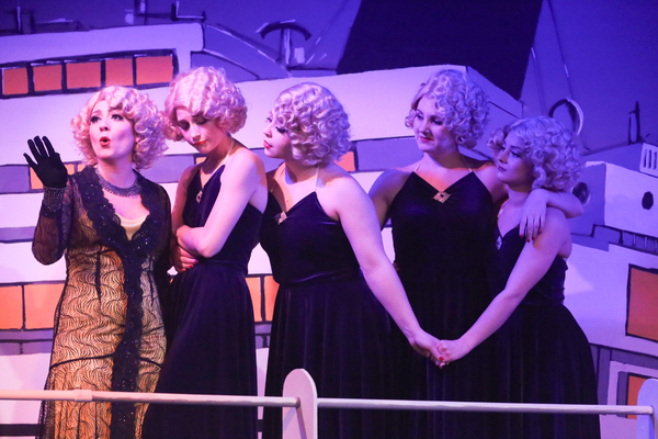 Sarah Porter as Reno, and her Angels -- Larissa White, Sara Rae Womack, Michelle Sauer, and Alyssa Wolf