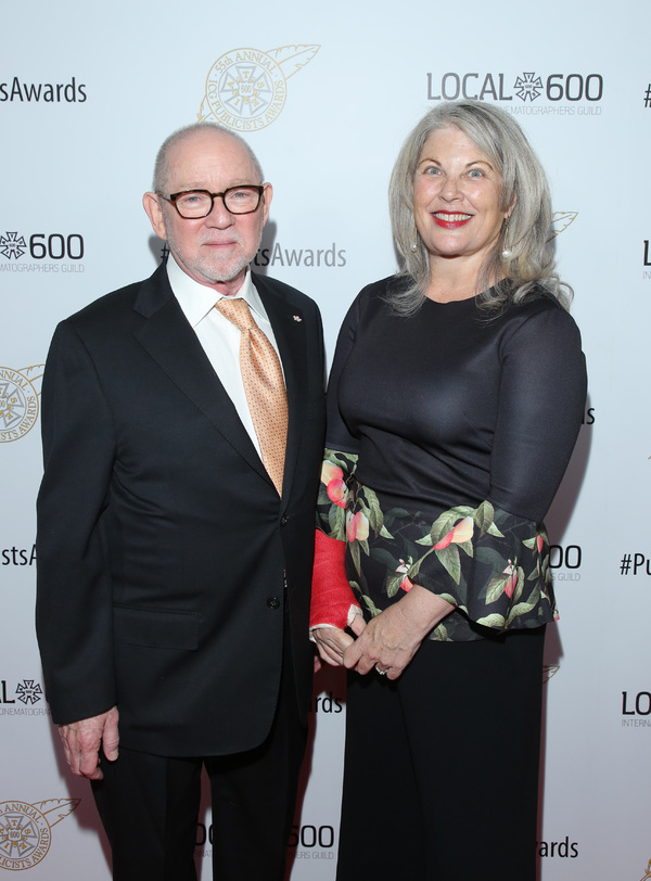 ICG President Steven Poster (L) and ICG National Executive Director Rebecca Rhine  at the 55th Annual ICG Publicists Awards