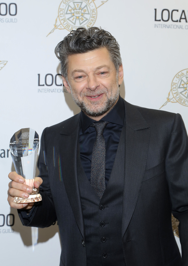 Andy Serkis, winner of The Motion Picture Showman of The Year Award at the 55th Annual ICG Publicists Awards