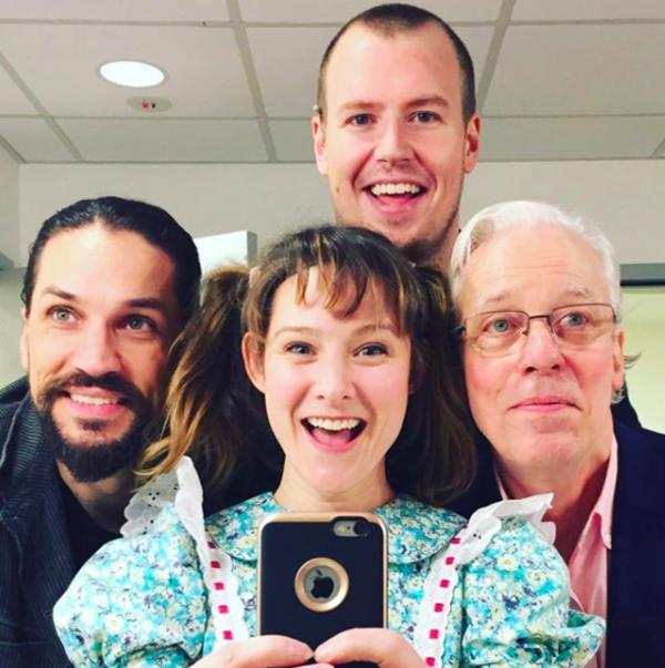 Jerry Springer The Opera (Off-Broadway): @bulknskull Just a casual #sip #repost - photo credit courtesy of @missjillysue ! Backstage at #jerryspringertheopera at @thenewgroupnyc !
