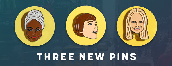 Accessorize in Style With New Broadway Pins Featuring Eartha Kitt, Julie Andrews, and Kristin Chenoweth