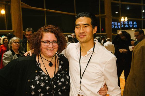 Director Jessica Kubzansky and Ryun Yu (Gordon Hirabayashi) at the opening night for  Photo