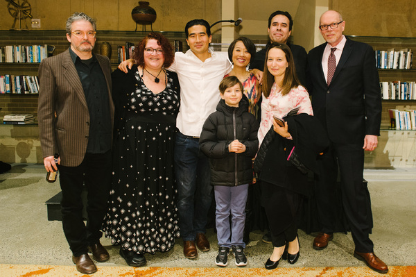 Sound Designer John Zalewski, Director Jessica Kubzansky, Ryun Yu (Gordon Hirabayashi), Playwright Jeanne Sakata, Gordon Hirabayashi's granddaughter Kai Ethier and her son Louis, Set and Lighting Designer Ben Zamora and Arena Stage Executive Director Ed