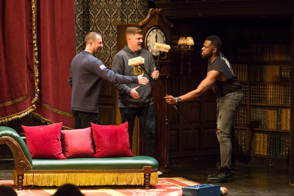Olympians Tyler George and Matt Hamilton onstage with Akron Watson