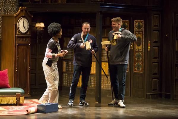 Ashley Bryant onstage with Matt Hamilton